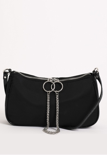 PIMKIE black Chain Ring Detail Nylon Bag D845CAC0D051BDGS_1