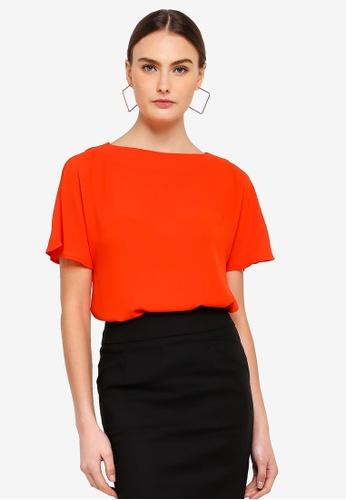 FORCAST orange Cordelia Short Sleeve Top 4FF24AA59E36E3GS_1