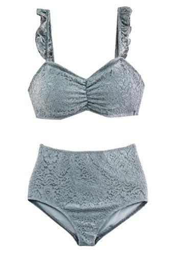 Halo blue Sexy Lace Swimsuit Bikini 70BF0USCE243CAGS_1