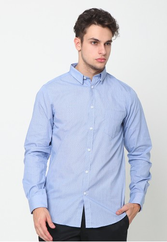 A & D blue Ms 1052 Plain Long Sleeve D1F0CAAA1FC165GS_1