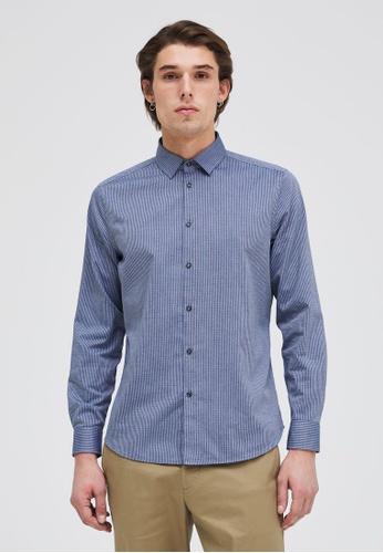 Sisley grey Striped Shirt 5EE9AAA4809927GS_1