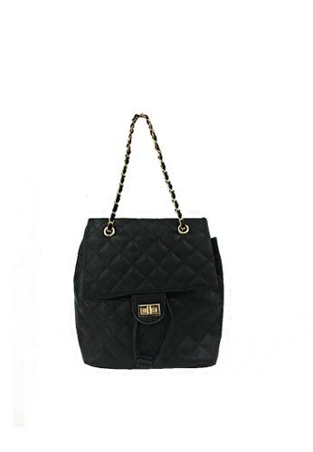 GreyPlus black Elise Shoulder Chain Backpack 14D6BACAC7DE1AGS_1