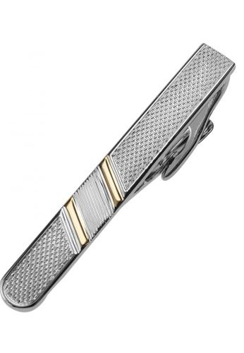 CUFF IT gold 50mm Gold Stripe Dotted Tie Clips CU047AC71CRWHK_1