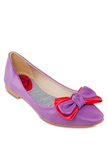 雙蝴蝶結平底鞋, 女鞋, 芭蕾esprit台灣官網平底鞋