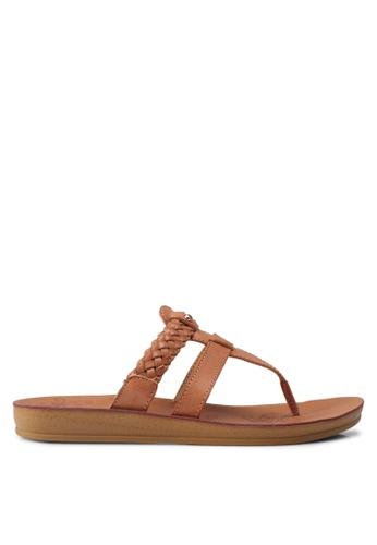 Noveni beige Woven Sandals 84B1DSH396796DGS_1