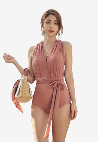 ZITIQUE pink Women's Underwired 2 Way Wear Bikini - Pink C6A41US92D9ABBGS_1