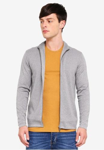 Burton Menswear London 灰色 拉鍊罩衫 44A1AAA127D51DGS_1