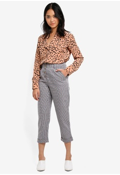 TOPSHOP Petite Mini Check Mensy Trousers S$ 89.90. Sizes 4 6 8 10 12