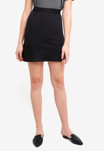 ZALORA BASICS black Scuba Skirt 8B08FAA7CBAFF2GS_1