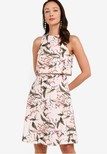 ZALORA OCCASION multi Double Layer Fit & Flare Dress F7F9EAA01B0413GS_1