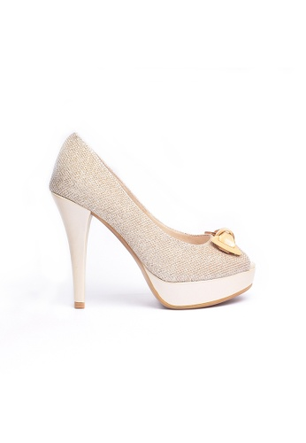 Elisa Litz gold Franse Heels (Gold) EL365SH0GMALSG_1