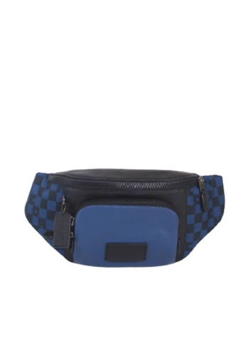 Coach blue Coach Checkered Track C2728 Belt Bag In True Blue Multi 2D6A6AC6CF61FEGS_1