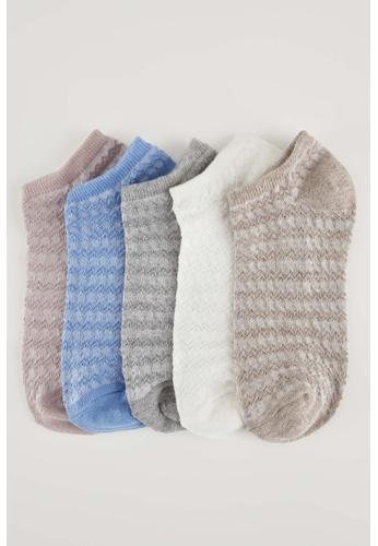DeFacto multi Woman 5-pieces Low Cut Socks E1AA7AAECB6BDFGS_1