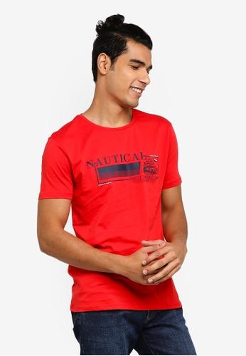 e44dbafa405ce LC Waikiki red Short-Sleeve Crew-Neck Printed T-Shirt C206BAAFF4F79FGS_1