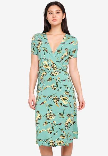 ICHI green Alatti Dress 3F72FAAF3CF10CGS_1