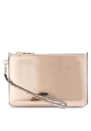 金屬感手拿小包, 包, esprit 衣服皮夾及零錢包