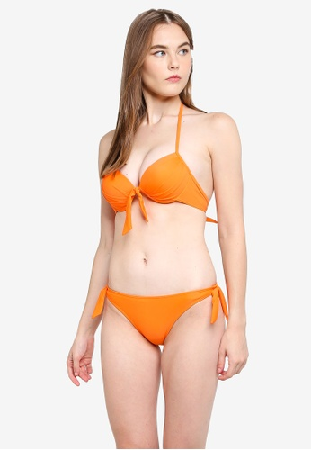 PINK N' PROPER orange Basic Push Up Bikini Set 0B648USAA5E322GS_1