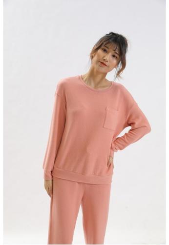 QuestChic pink and orange Cera Cotton Sweatshirt 3BFEEAA0D6FA9CGS_1