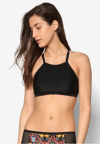 簡約方領交叉比基尼esprit 品牌胸罩, 服飾, 運動
