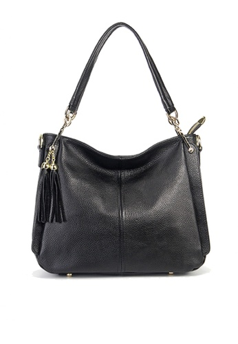 Twenty Eight Shoes black VANSA Pebbled Top Layer Cowhide Tote Bag VBW-Hb1818 0E486AC8ECC757GS_1