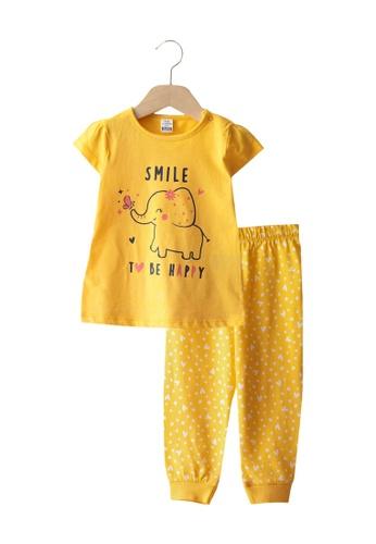LC Waikiki yellow Girl Pyjama Set 47E53KAEB7AAC2GS_1
