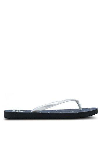 Billabong blue Dama Open Flip Flops 41947SHACBE63EGS_1