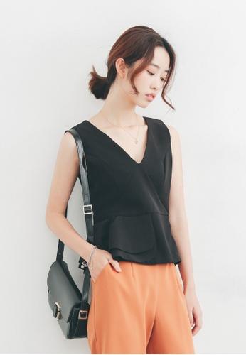 Shopsfashion black Little Black Peplum Top SH656AA95PGASG_1