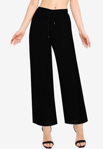 Public Desire black Wide Leg Beach Trousers 9A8CAAA624602BGS_1
