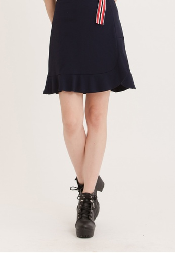 H:CONNECT blue Flare Hem Skirt 9B7D2AA7325F5AGS_1