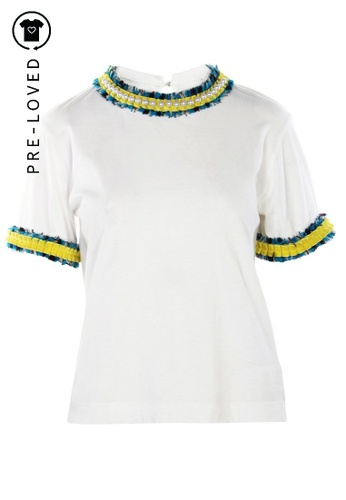 Muveil white Pre-Loved muveil Embellished Casual T Shirt 270FCAA2345B65GS_1
