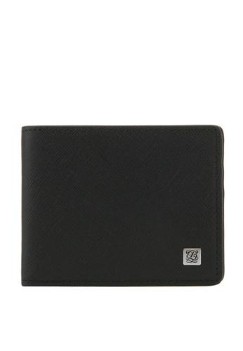 Louis Quatorze black and blue Men's Cow Leather Wallet With Money Clip LO321AC69LOSSG_1