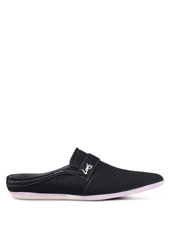 Louis Cuppers black Backless Loafers 76843SH67347FAGS_1