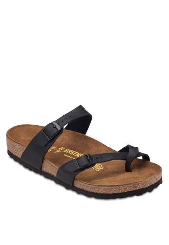 Mayari 拇指套扣環帶平底zalora 評價拖鞋, 鞋, 涼鞋及拖鞋