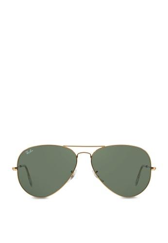 Ray-Ban yellow Aviator Large Metal II RB3026 Sunglasses RA370GL23SAYSG_1