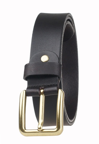 FANYU brown Men Pin Buckle Full Grain Leather Belt Coffee FA549AC70CMRSG_1