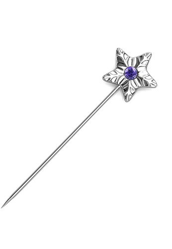 Her Jewellery silver Star Petal Brooch (February)-  Made with premium grade crystals from Austria FE449AC5EB3DC3GS_1