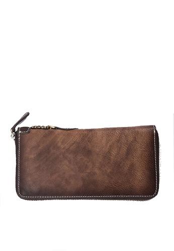 Twenty Eight Shoes brown VANSA Vintage Top Layer Cowhide Long Wallet VAM-Wt60011 6F840AC0DB25E4GS_1