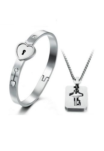 Elfi Silver Original Triumph In The Skies 2 Heart Lock Bangle Bracelet For El186ac76ycdmy 1