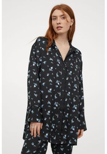 H&M blue Patterned blouse 1E5F6AACDA2B5BGS_1
