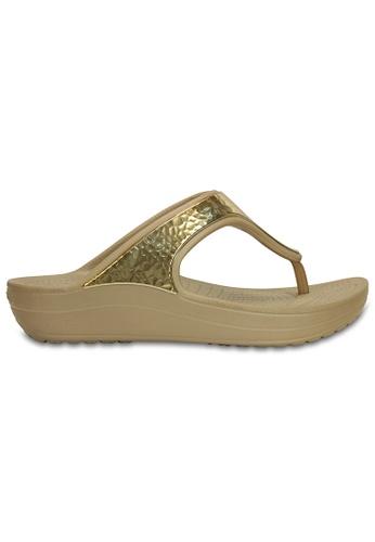 Crocs gold Women's Crocs Sloane Embellished Flip GldMtlc CR883SH77XFAMY_1
