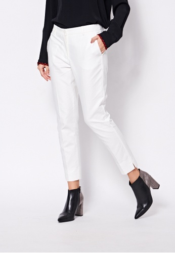 Sisley white Slim Fit Pants CC747AADA12B72GS_1
