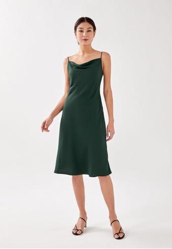 Love, Bonito green Ellisa Cowl Neck Midi Dress 6C2CAAAA7DE187GS_1