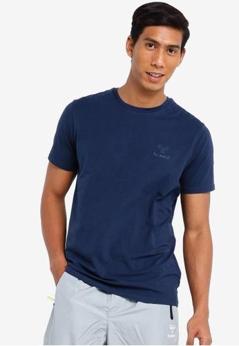 Hummel navy Sigge Short Sleeve T-Shirt B106CAA6DC2CDBGS_1