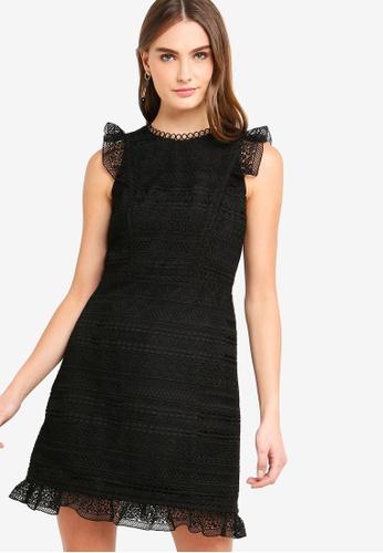 J.Crew black Stanbury Striped Lace Dress 000D5AAE18F2ABGS_1