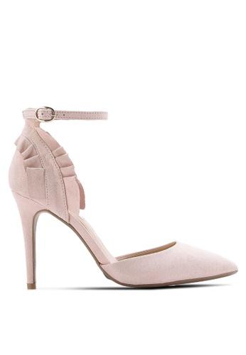 Dorothy Perkins pink Blush Game Ruffle Back Court Heels DO816SH40PQHMY_1