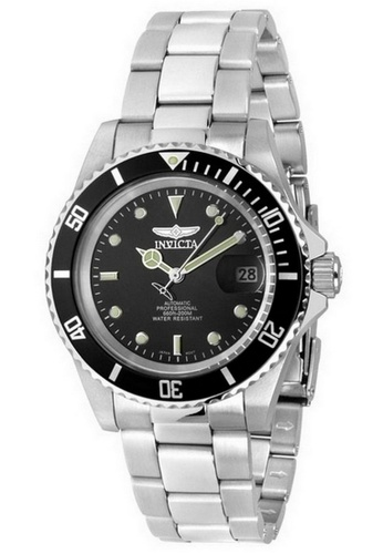 INVICTA silver Invicta Pro Diver Men 40mm Case Silver Stainless Steel Strap Black Dial Automatic Watch 8926OB IN968AC0F5E2SG_1