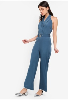 da43fbc1a56 40% OFF ZALORA Halter Neck Jumpsuit S  44.90 NOW S  26.90 Sizes XS S M L XL