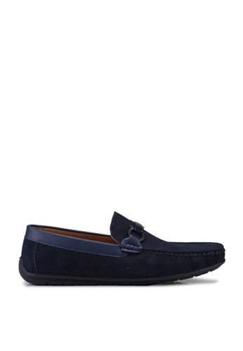 Louis Cuppers blue Faux Leather Horsebit Loafers 679DCSHA02A7CFGS_1
