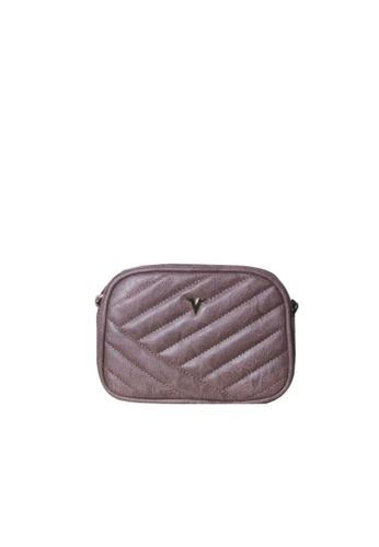 Verchini purple Verchini Quilted Patent Crossbody Bag ADAFFACB583658GS_1