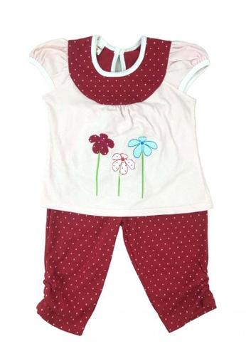 Modernform International red Girls Short Sleeve Casual Wear for Kids 88982KAD595AABGS_1